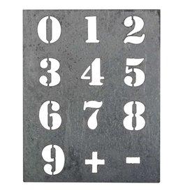 IB Laursen Sjabloon cijfers XL, zink