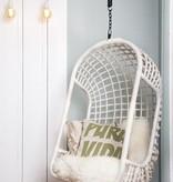 HK Living hangstoel rotan 55x72x110cm, naturel