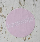 Ronde sticker 'kadootje' roze, 10st