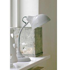 Vintage bureaulamp grijs