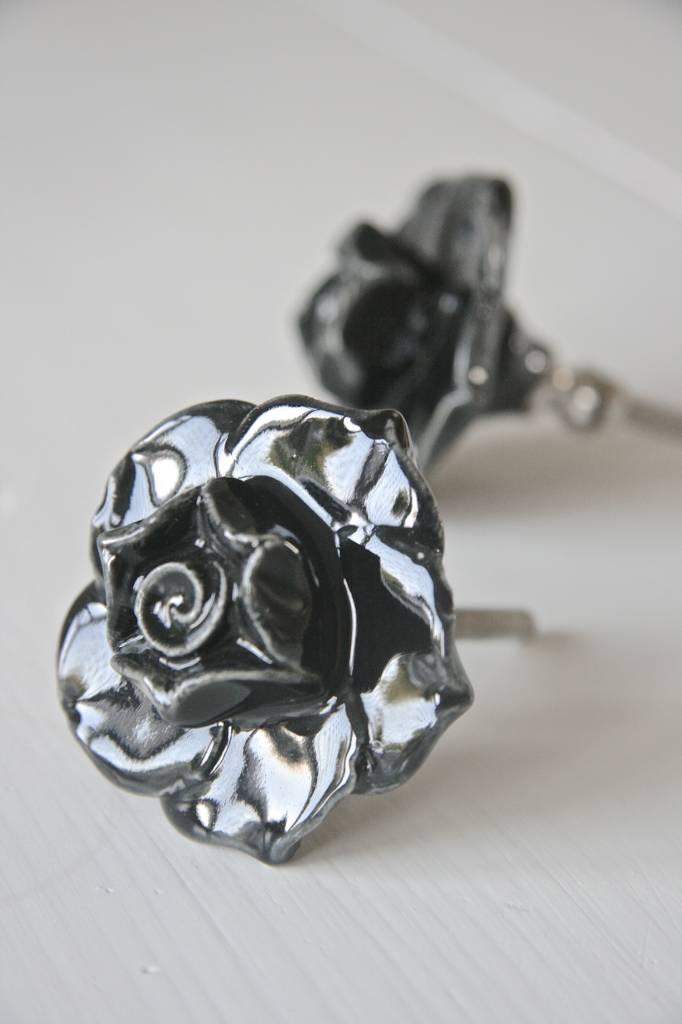 Harveys Knop roos zwart 5,5cm