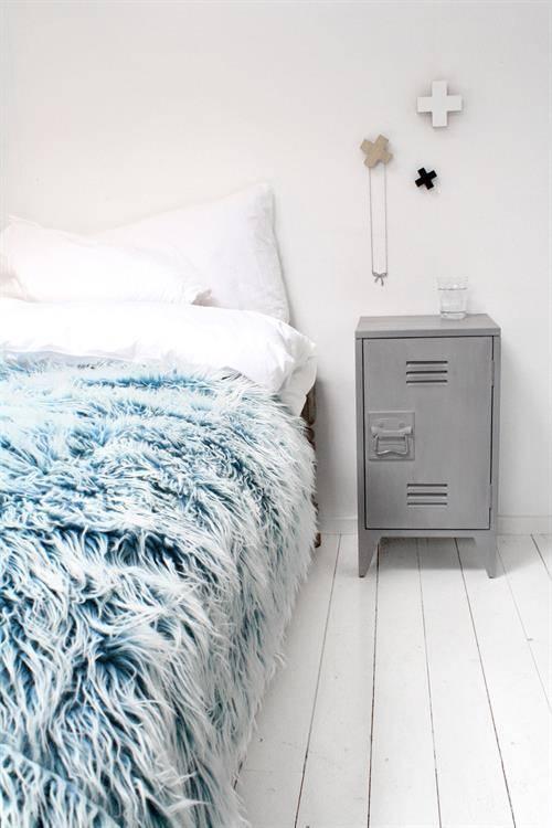HK Living nachtkastjes locker 65x36x33cm set, grijs