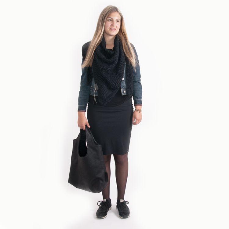 Zusss Sjaal om in te wonen 75x210cm, zwart