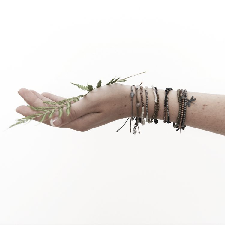 Zusss armband 19cm, zand/zilver