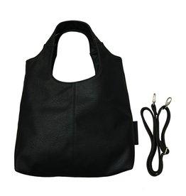 Zusss Stoere schoudertas, zwart