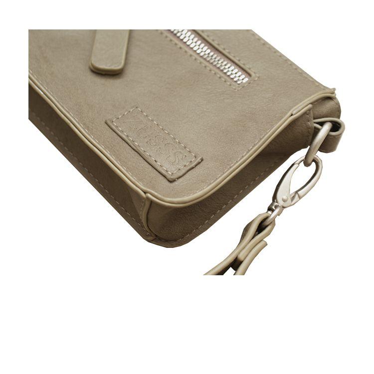 Zusss Handig klein tasje 11x18x4,5cm, nat zand