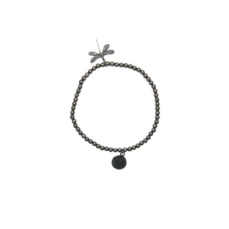 Zusss armband libelle 19cm, metaal/zilver