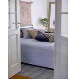 IB Laursen Bed sprei wit/blauwe strepen, 220x240cm