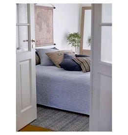 IB Laursen Bed sprei wit/blauwe strepen
