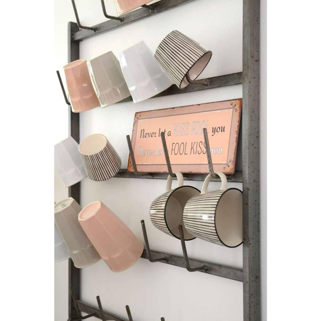 IB Laursen Mokkenrek muur Groot 75x59cm, zink