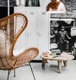HK Living Rotan stoel 100x63x63cm, bruin