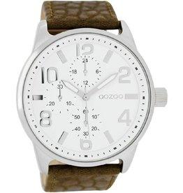 OOZOO horloges Timepieces C7440 bruin/wit