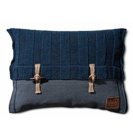 Knit Factory Gebreid kussen Rib6x6 Jeans