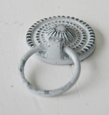 Harveys Kastknop 'ring pull' grijs/zwart 3,5cm