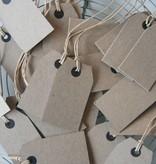 Labeltje karton 4x7cm bruin