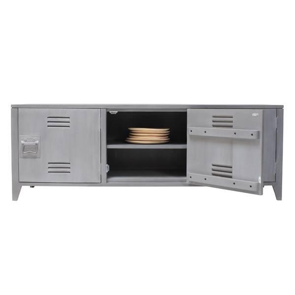 HK Living TV meubel hout 57x160x40cm, grijs