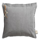 Knit Factory kussen 'Mara' lichtgrijs 50x50cm