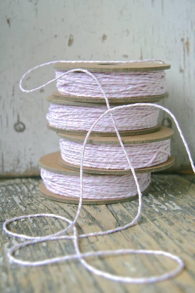 Bakers String / slagerstouw roze-wit, 12meter