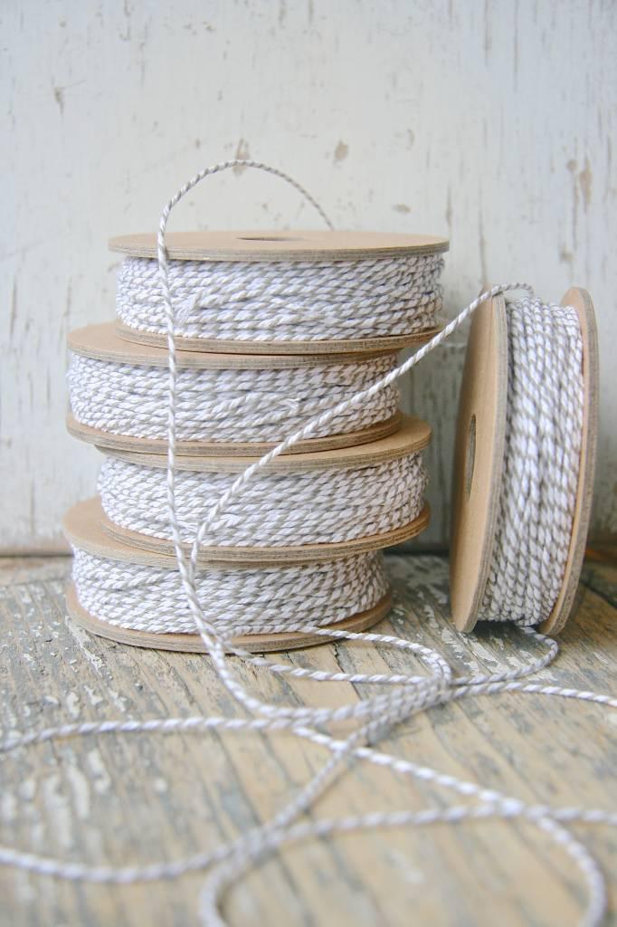 Bakers String / slagerstouw grijs-wit, 12meter