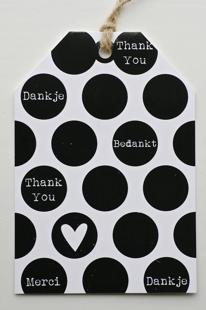 Wenskaart - Bedankt -
