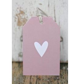 Kadokaartje - Hartje roze -