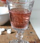 Glas op voet, Ø8,5 x h14cm, set 4 stuks