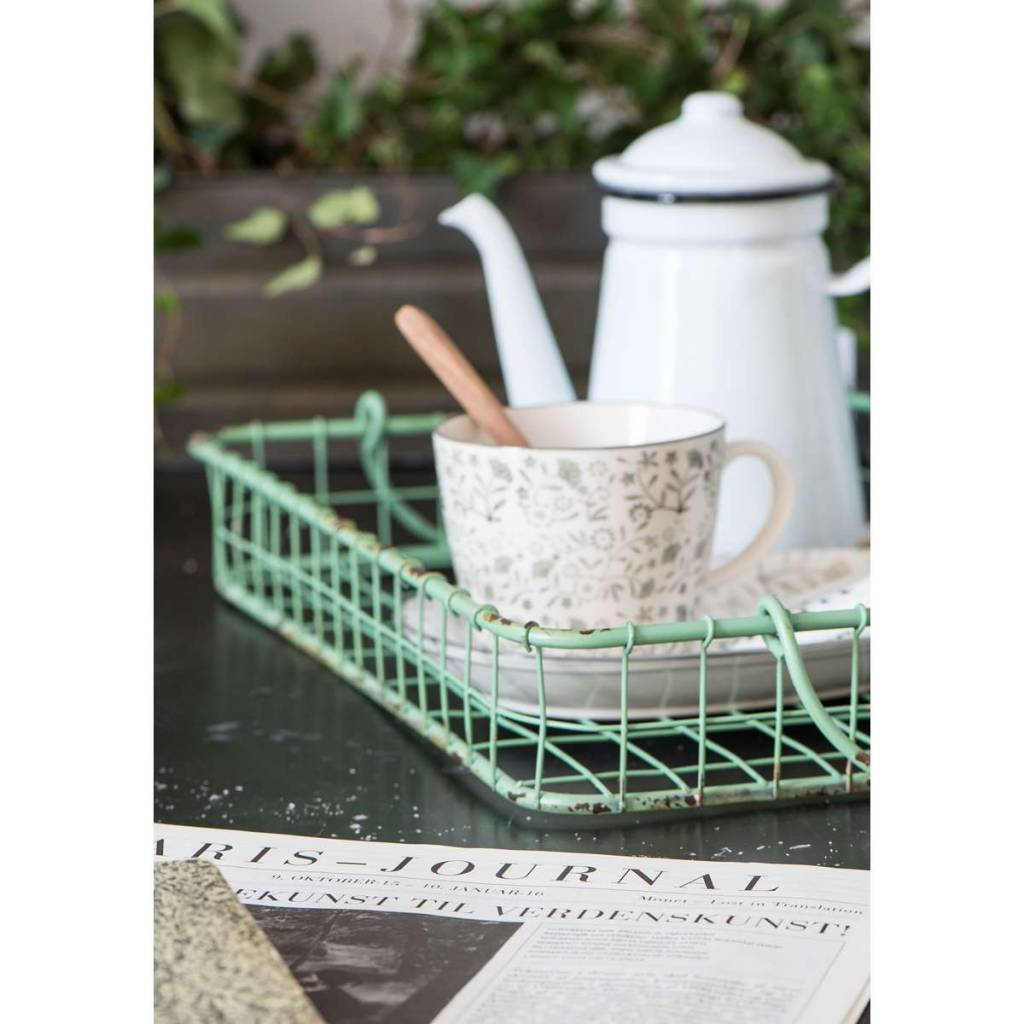 IB Laursen Emaille coffeepot Ø11xh18,5cm, wit