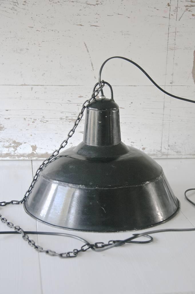 vintage industrià le atelier lamp emaille zwart label123