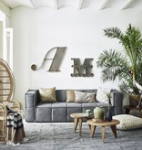 HK Living bank canvas 250x103x73cm, grijs