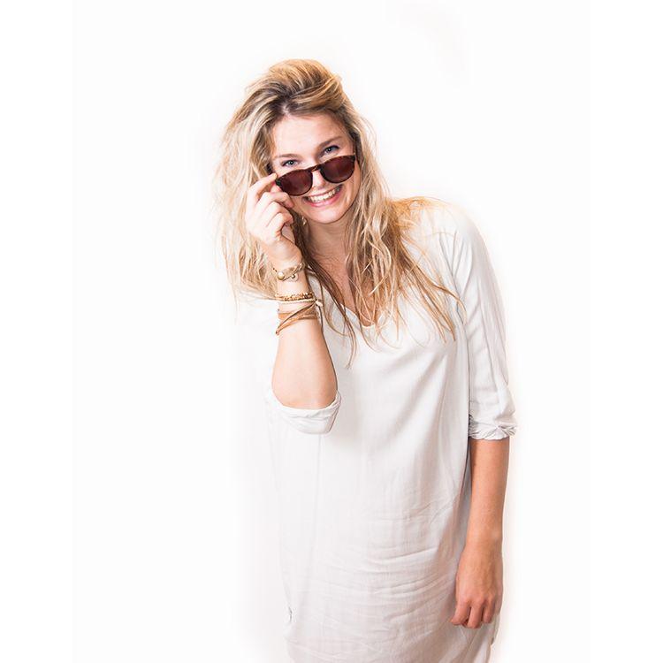 Zusss Etui voor een zonnebril poedergrijs