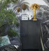 HK Living Mango houten kast met enkele deur 122x81x36cm , Zwart