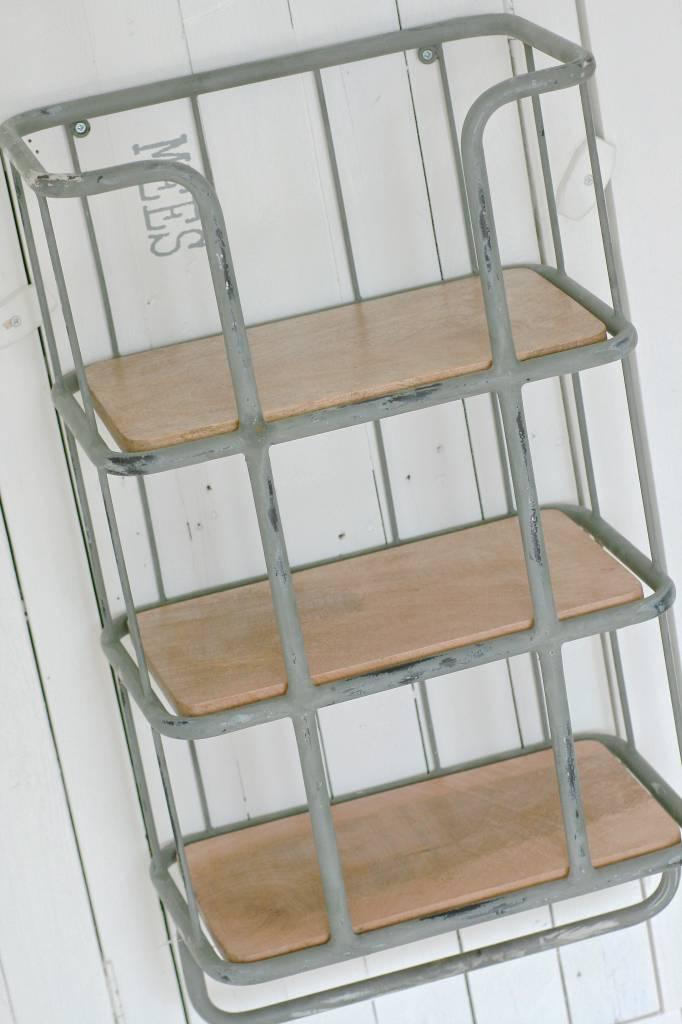 metalen bakkersrek 72x41x26cm, grijs
