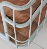 metalen trolley op wielen 62x60x42cm, lichtblauw