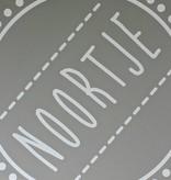 Sticker met naam naar keuze, wit