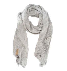 Zusss Gewafelde sjaal grijs