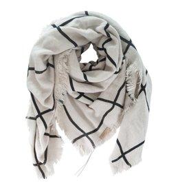 Zusss grote vierkante sjaal zand