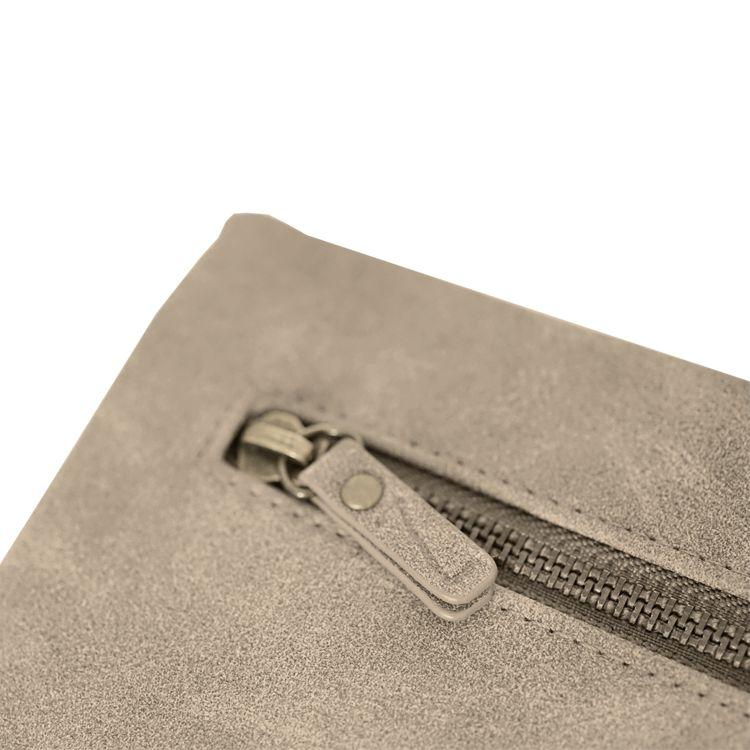 Zusss Luxe Portemonnee 21x11,5x2,5cm, groen/grijs