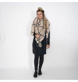 Zusss grote vierkante sjaal grijs