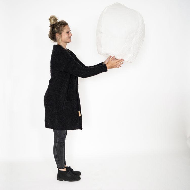 Zusss Wensballon 32xx45x83cm, wit