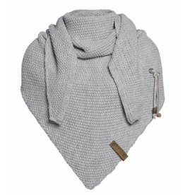 Knit Factory Omslagdoek / sjaal Coco lichtgrijs
