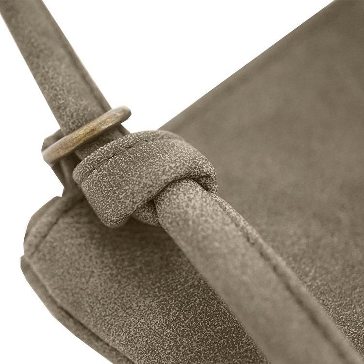 Zusss Eenvoudige tas M 28x30cm, groen-grijs