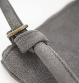 Zusss Eenvoudige tas M 28x30cm, antracietgrijs