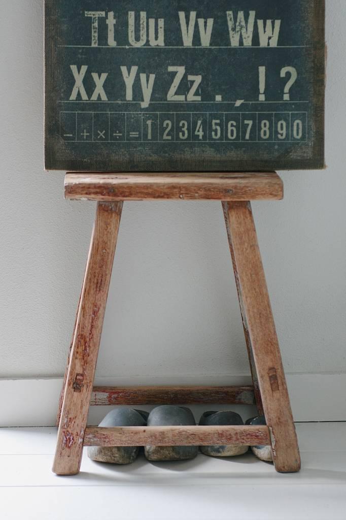 Oud chinees bankje / krukje 51cm, bruin