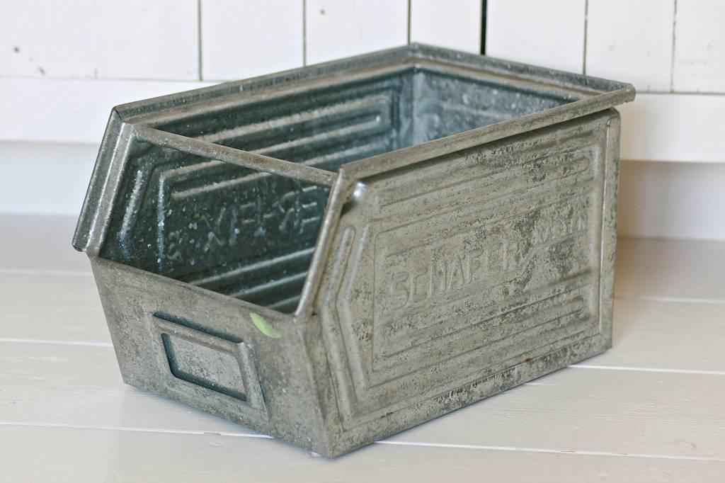 Zinken magazijnbak maat L, 34x22x20cm