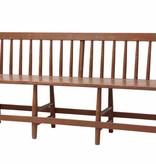 Storebror houten cafe bank 180x50x81cm, bruin