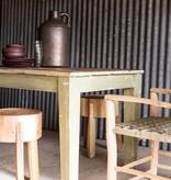 Storebror Houten tafel 220x80x77cm, groen/naturel