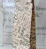 Papieren blokbodem zakjes 'food' 8x4,5x22cm, bruin, 10 stuks