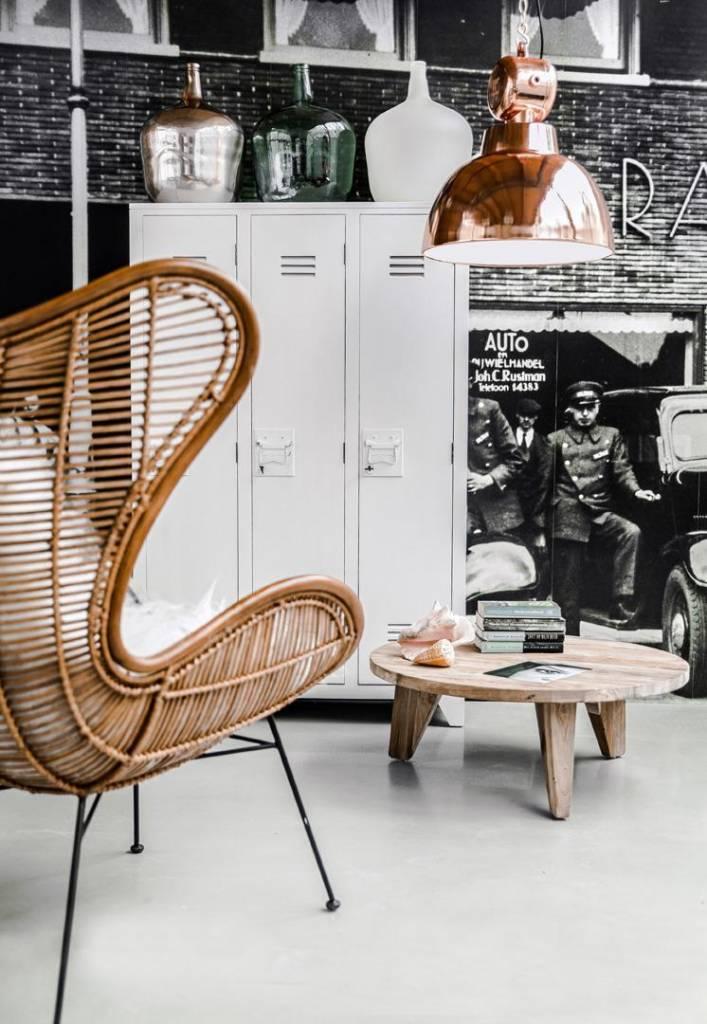 HK Living Rotan stoel 100x63x63cm, koffie bruin
