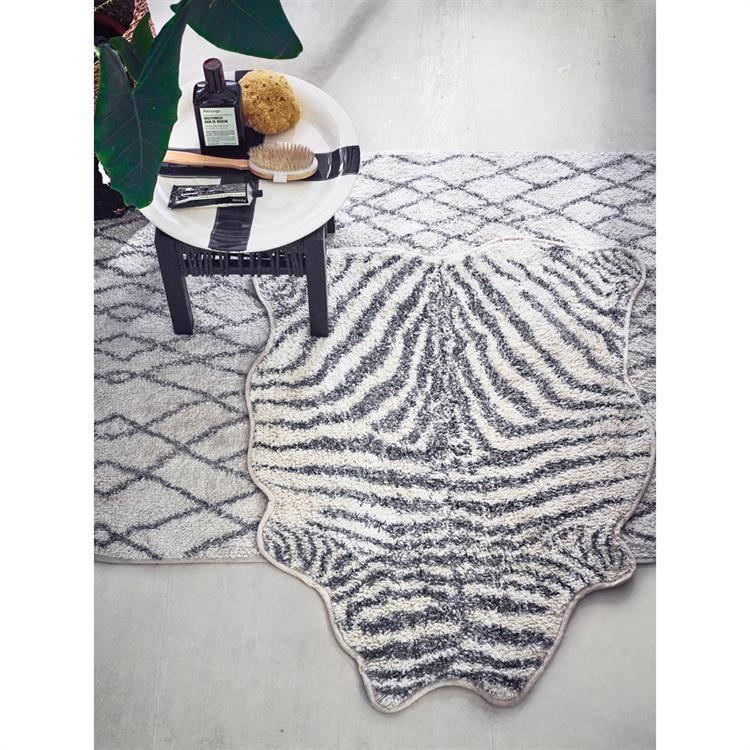 Hk Living Badmat Zebra 85x100cm Zwartecru Label123