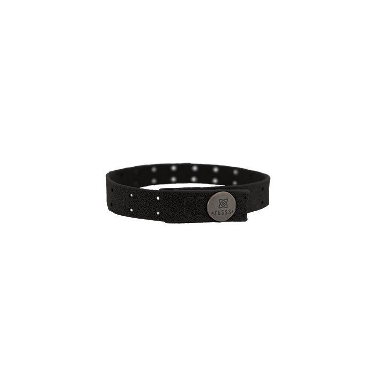 Zusss Armband leer met gaatjes 1x22cm, zwart
